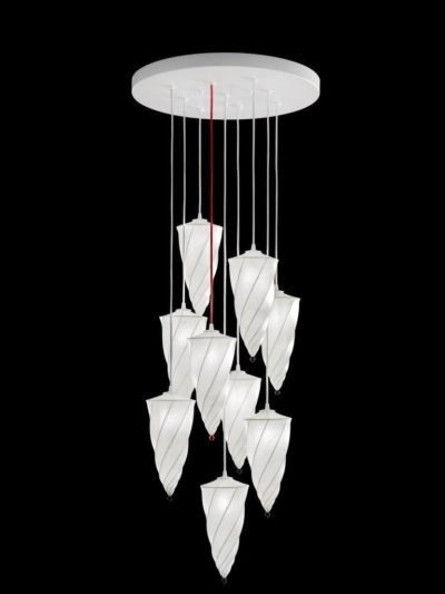 Fortuny Cesendello Cocoon Chandelier white lamp