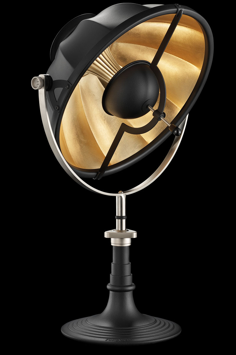 Fortuny Armilla 41 Table Lamp Black & Gold Leaf