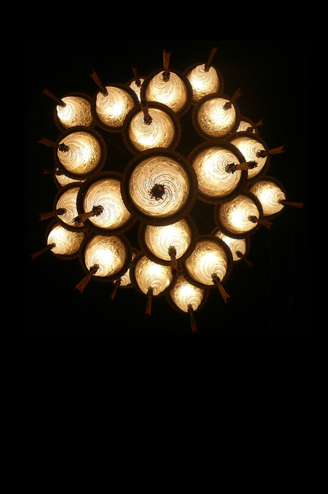 Cesendello Cascade glass ceiling lamp bottom