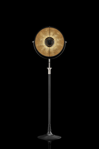 Fortuny Atelier 41 floor lamp black and gold leaf