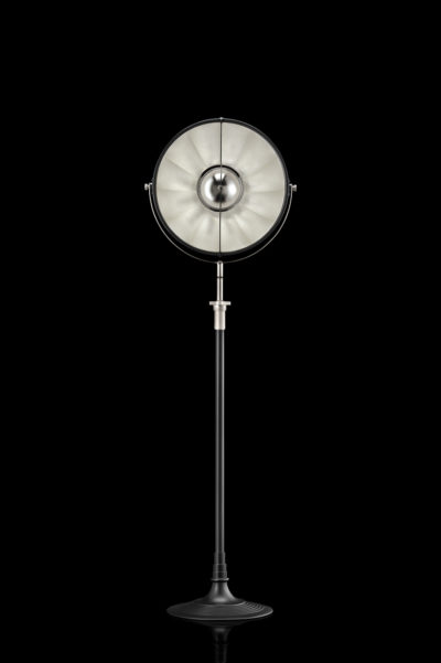 Fortuny Atelier 41 floor lamp black and silver leaf
