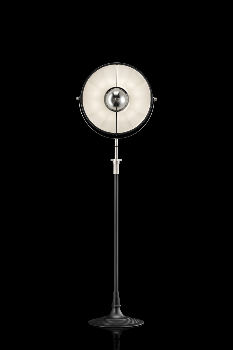 Fortuny Atelier 41 floor lamp black and white leaf