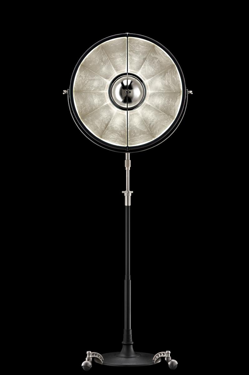 Fortuny Atelier 63 floor lamp black gold leaf
