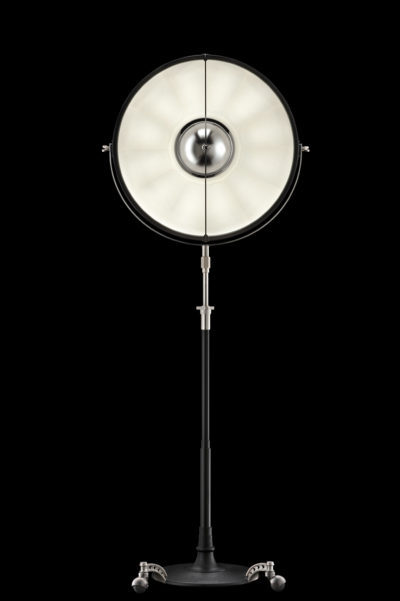 Fortuny Atelier 63 floor lamp black white leaf