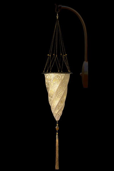 Fortuny Cesendello glass arc-wall lamp