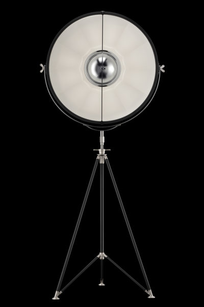 Fortuny Studio 76 floor tripod lamp black & white
