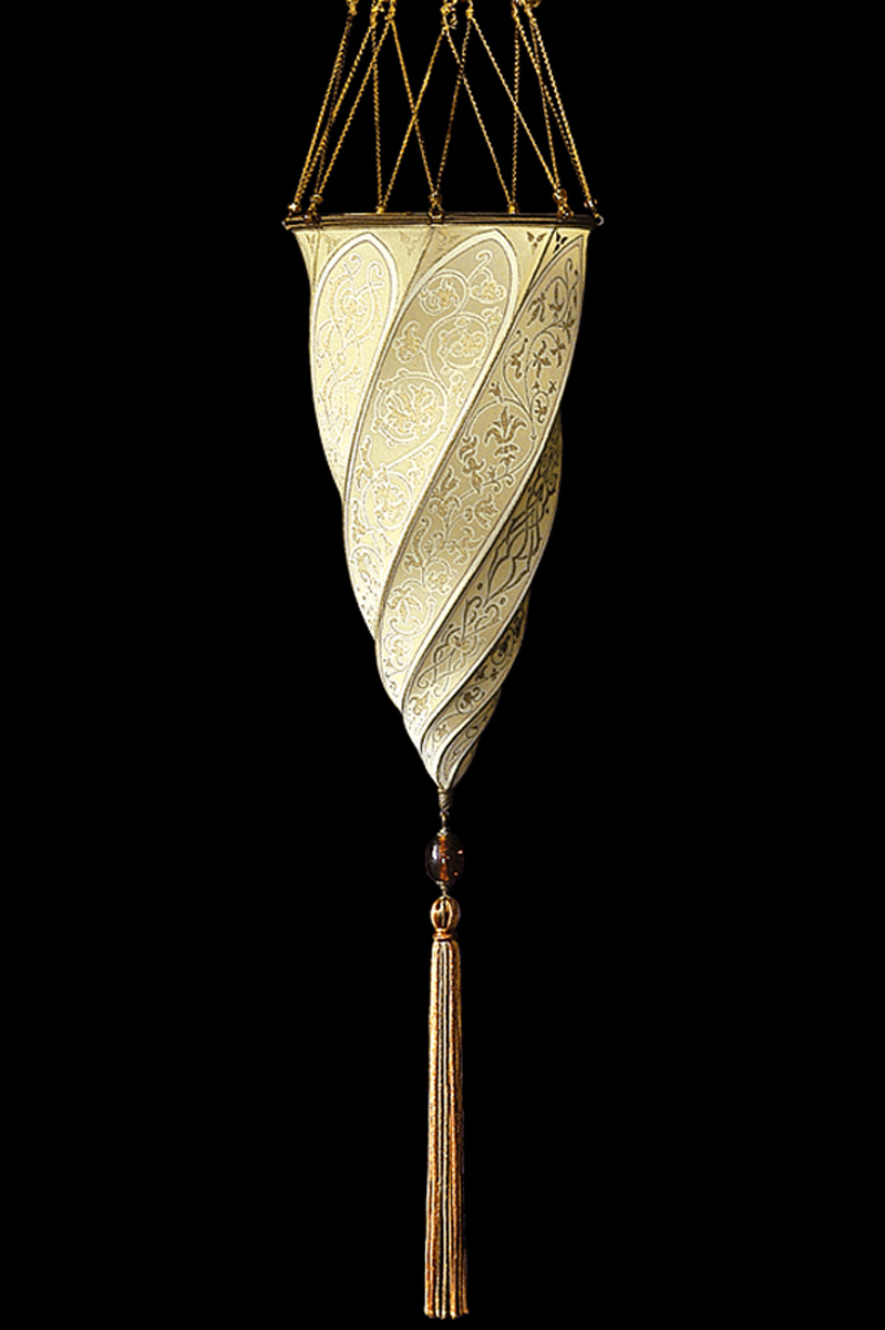 Fortuny Cesendello ceiling or wall silk lamp