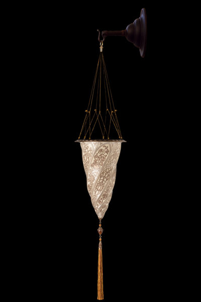 Fortuny Cesendello glass wall silver lamp