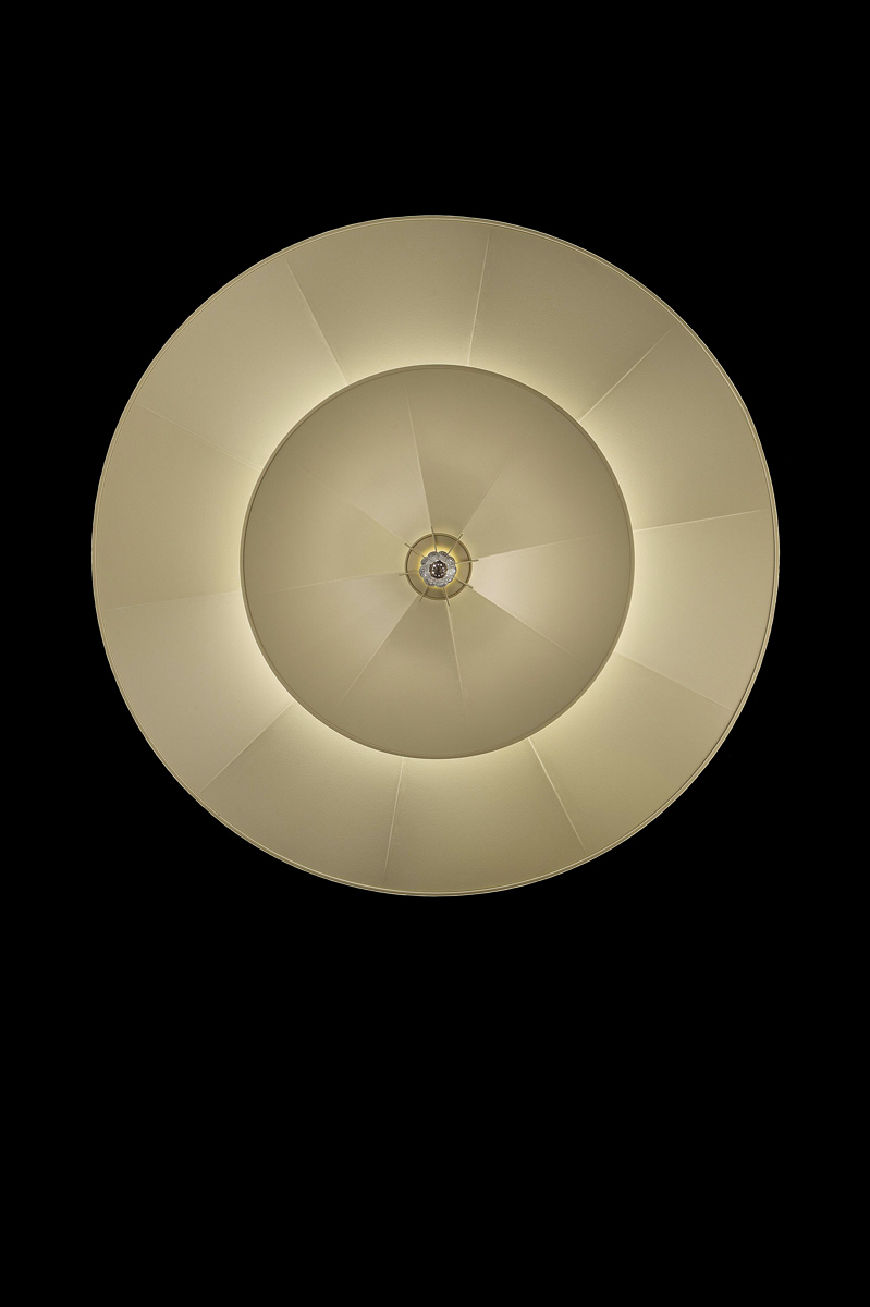 Fortuny Icaro carbon fibre 2 tiers ivory lamp bottom