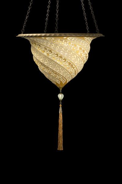 Fortuny Samarkanda wall gold glass lamp