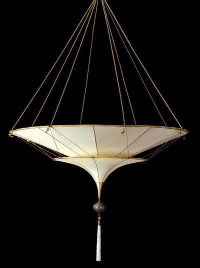Fortuny Scheherazade 2 tiers Plain silk lamp side