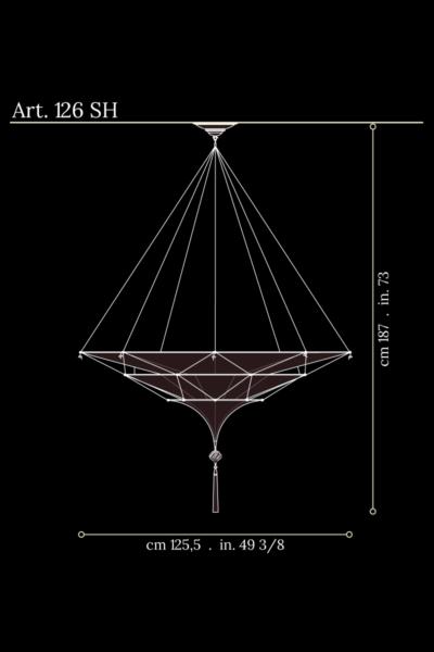 Fortuny Scheherazade 3 tiers dimensions