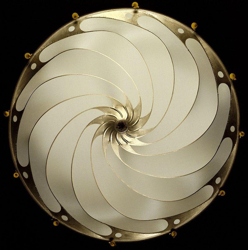 Fortuny Scudo Saraceno ivory Plain silk lamp