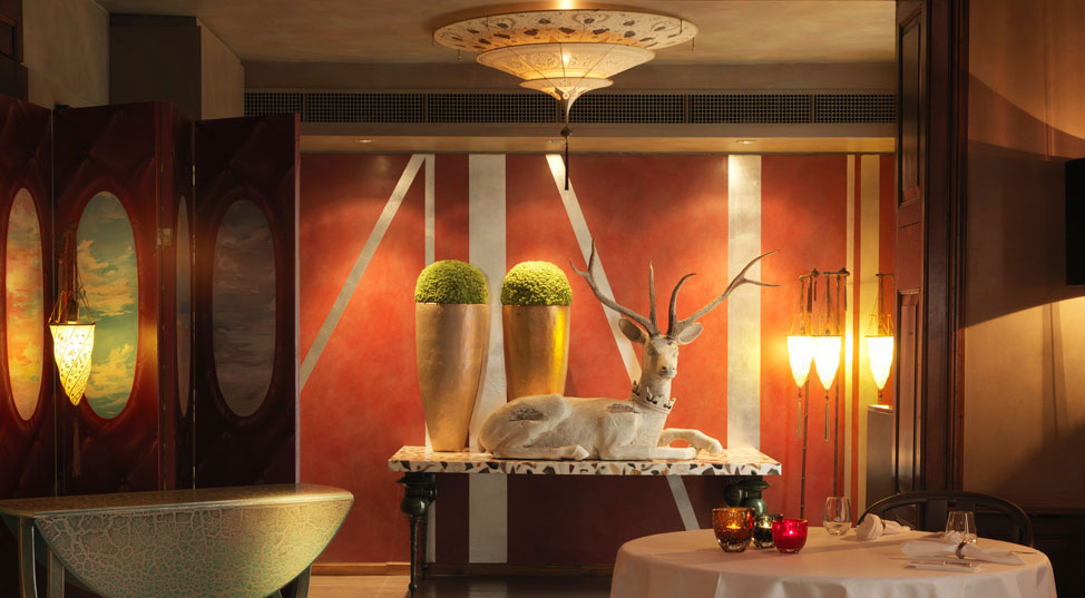 RICO'S KUSNACHT featuring Fortuny lamps in Switzerland