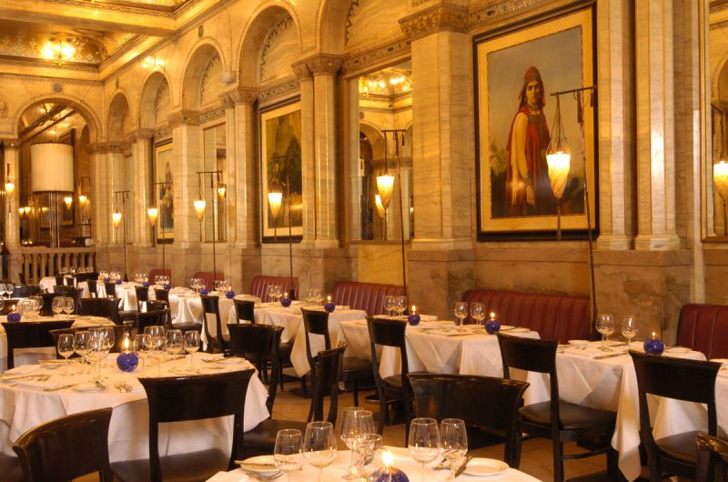 Criterion Restaurant in London with Fortuny Cesendello floor lamps