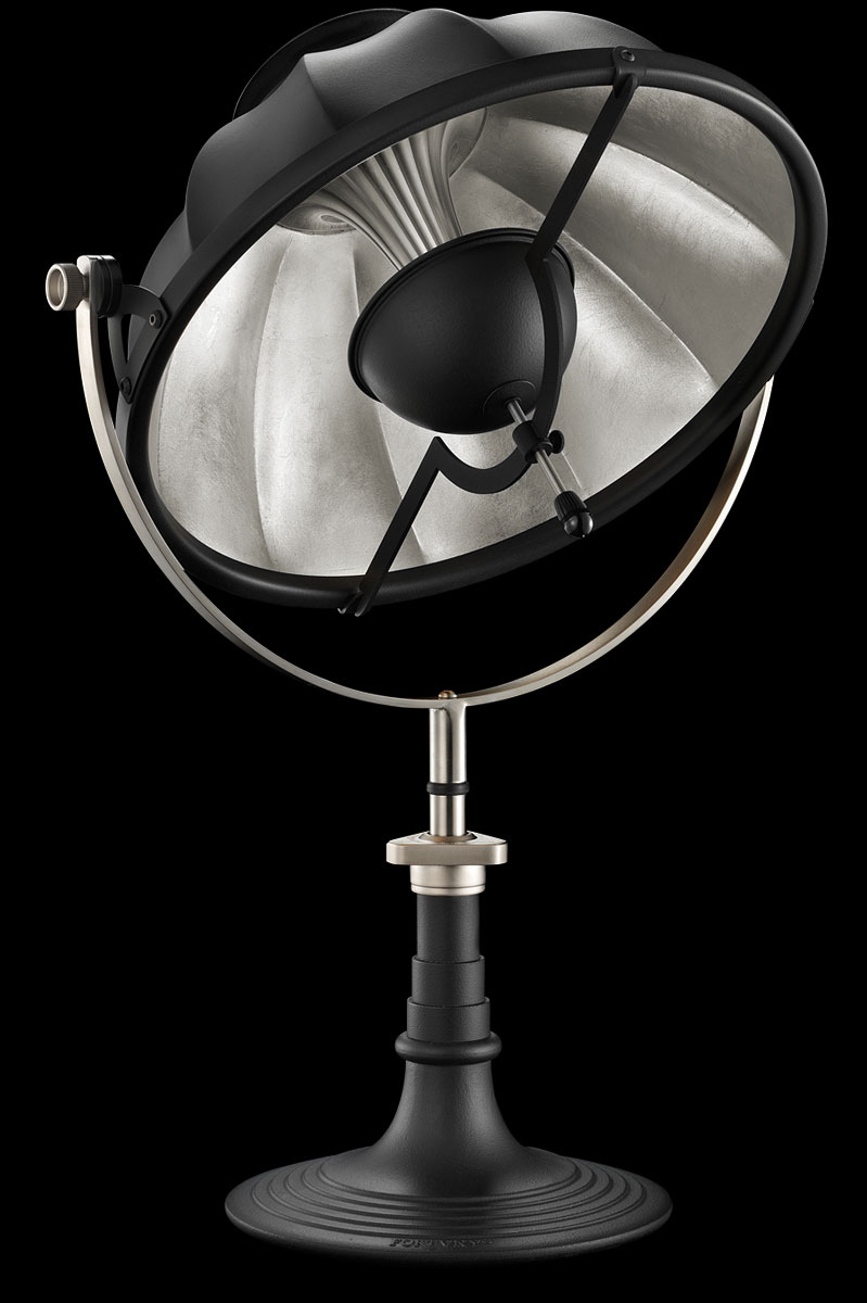 Fortuny Armilla 41 Table Lamp Black & Silver Leaf