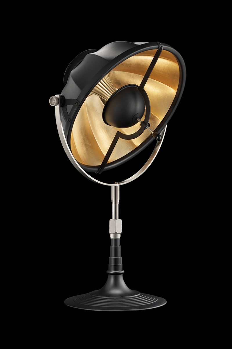 Fortuny Armilla 32 Table Lamp Black & Gold Leaf