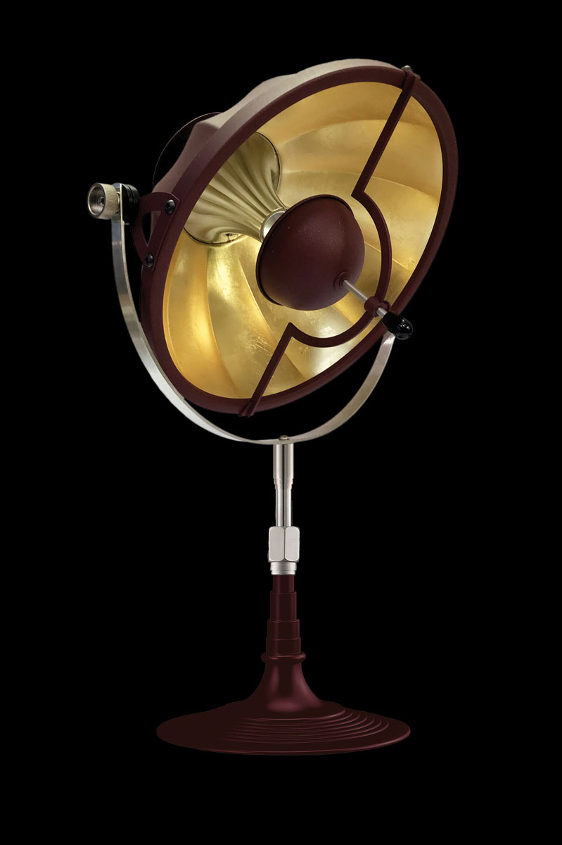 Fortuny Armilla 32 Table Lamp Antique Red & Gold Leaf