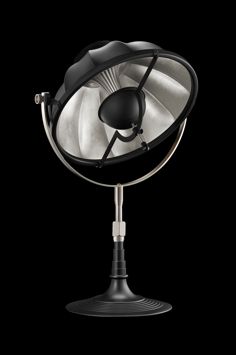 Fortuny Armilla 32 Table Lamp Black & Silver Leaf