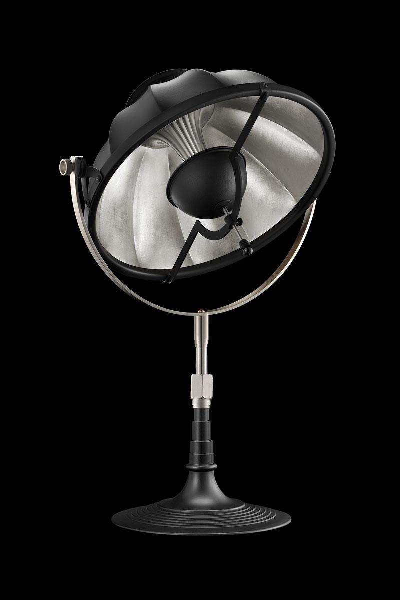 Fortuny Armilla 32 Table Lamp Black & Silver Leaf