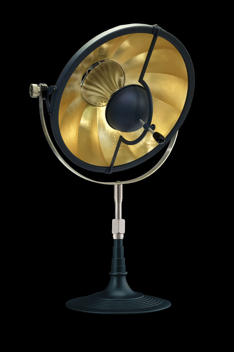 Fortuny Armilla 32 Table Lamp Blue & Gold Leaf