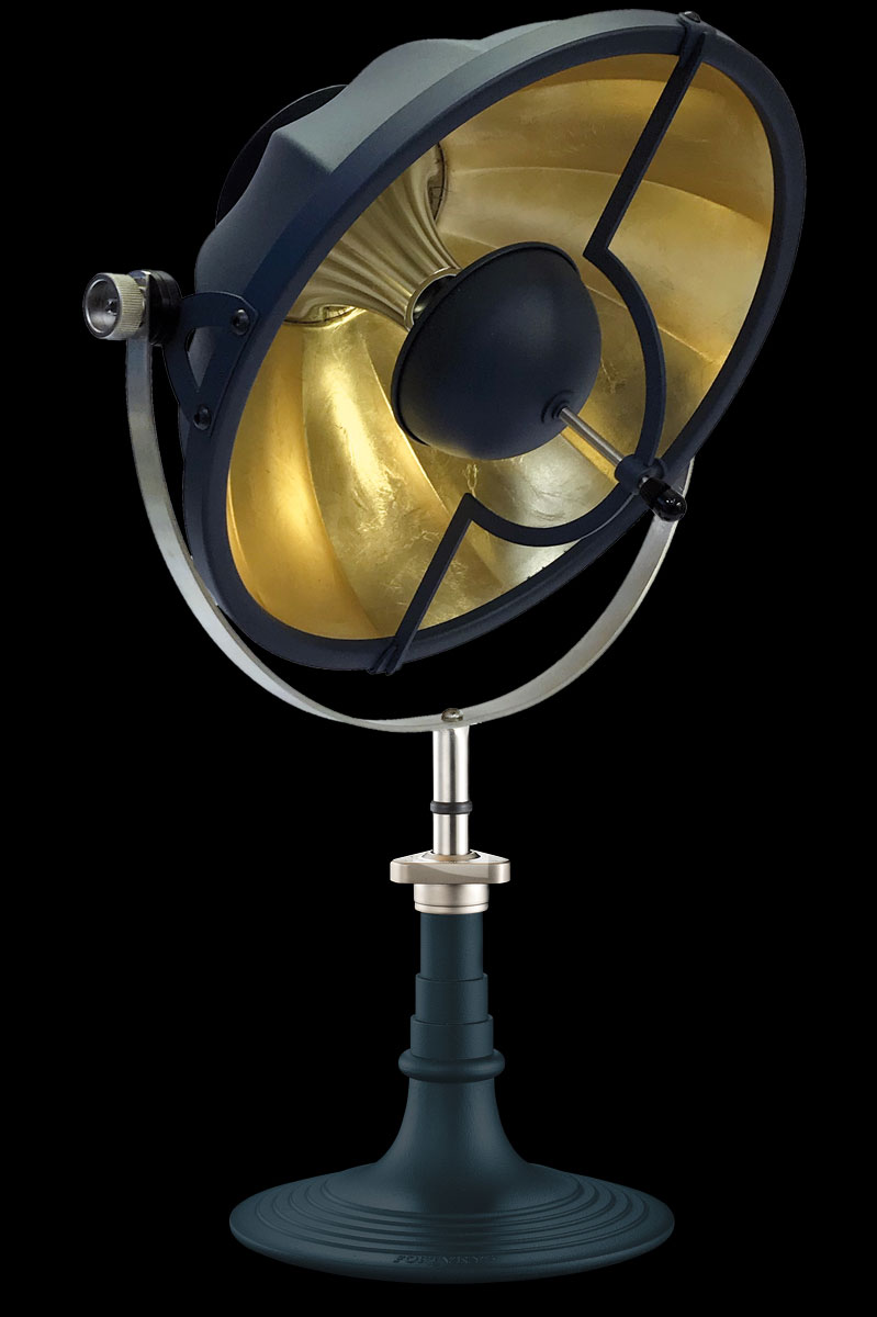 Fortuny Armilla 41 Table Lamp Blue & Gold Leaf