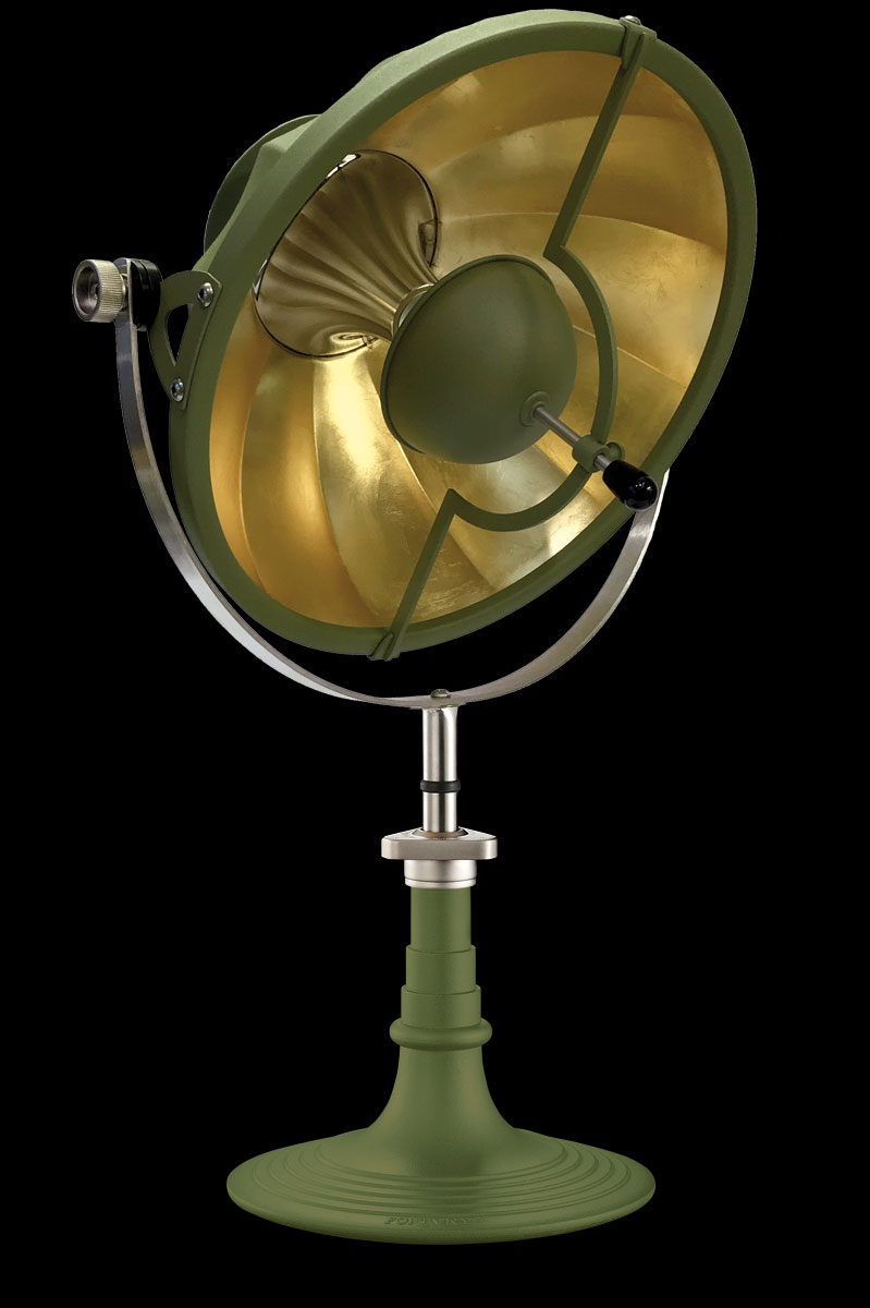 Fortuny Armilla 41 table lamp pastel green & gold Leaf