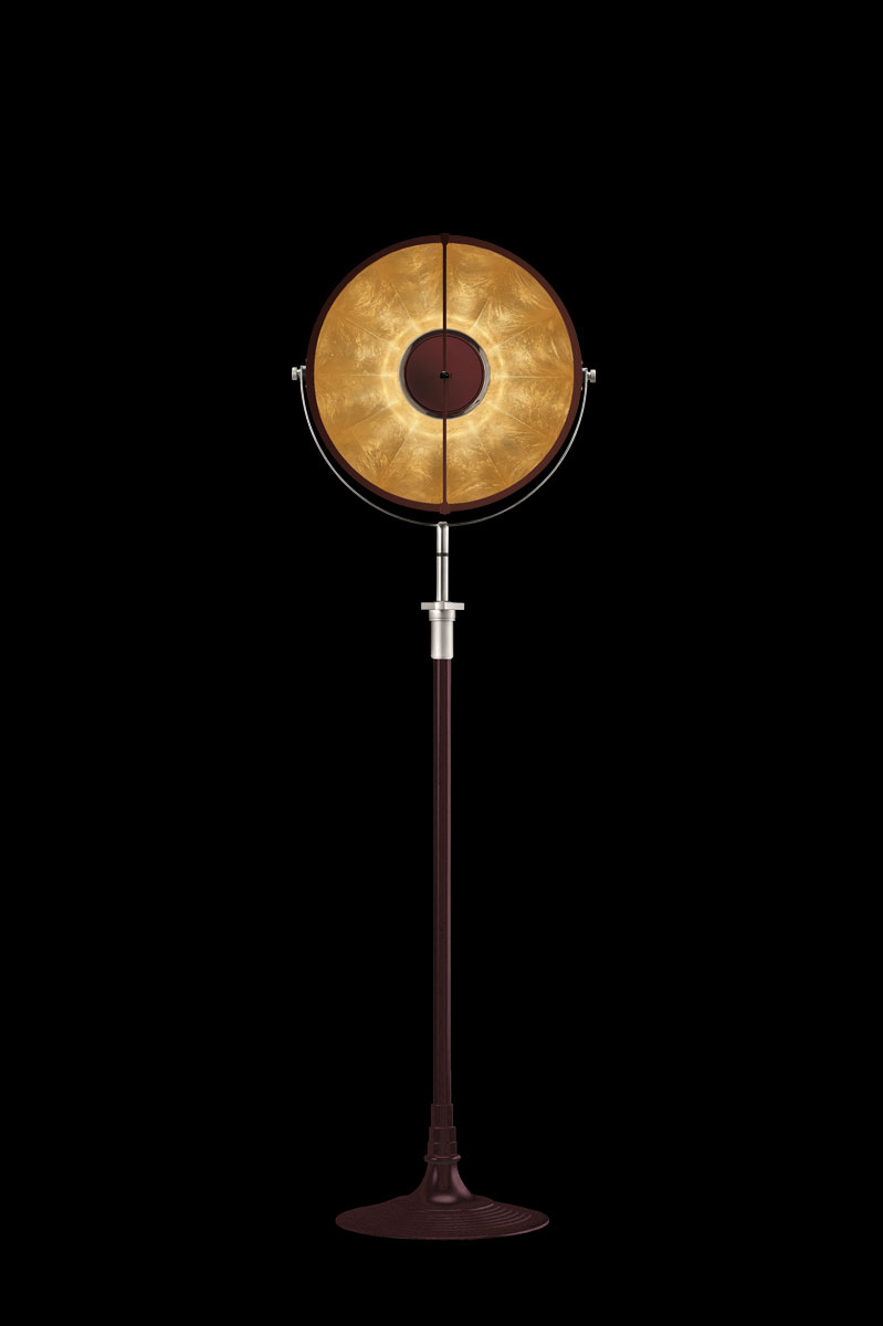 Fortuny Atelier 41 floor lamp antique red & gold leaf