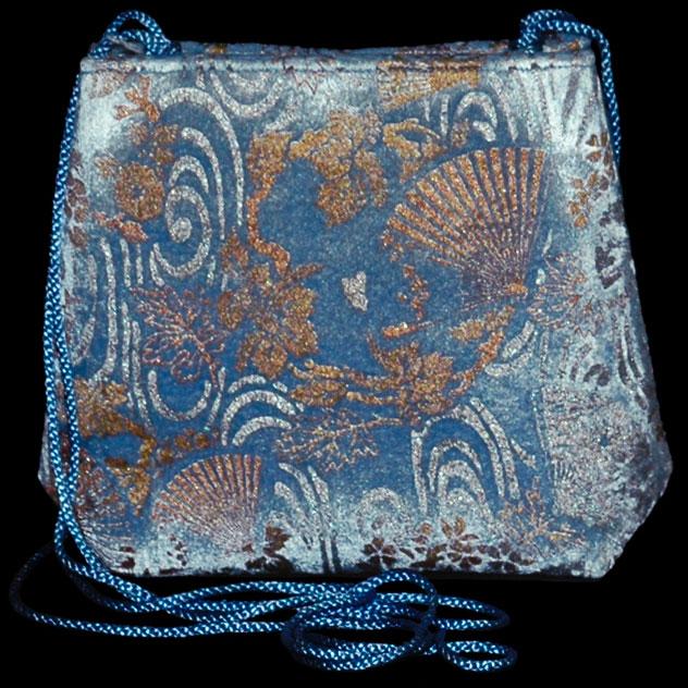 Fortuny Gioia 491 hand printed velvet bag