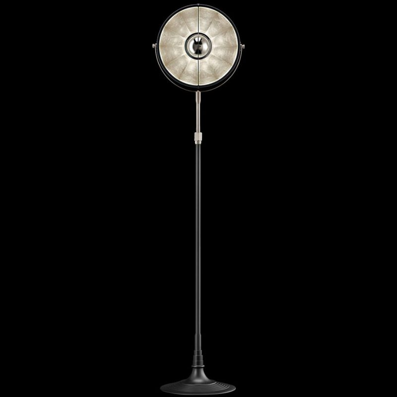 Fortuny lamp Studio 1907 Atelier 32 black and silver