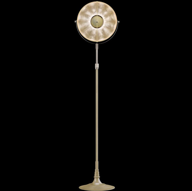 Fortuny lamp Studio 1907 Atelier 32quartz & silver leaf