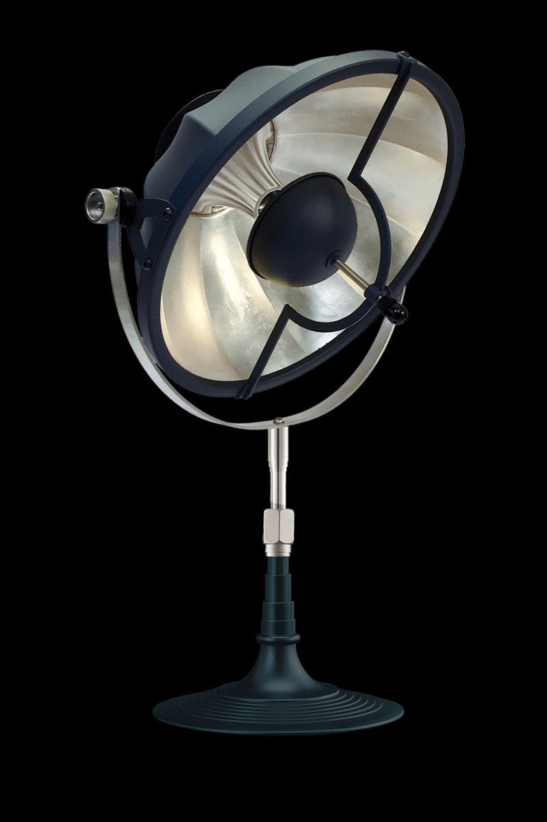 Fortuny Armilla 41 pastel blue & silver leaf table lamp