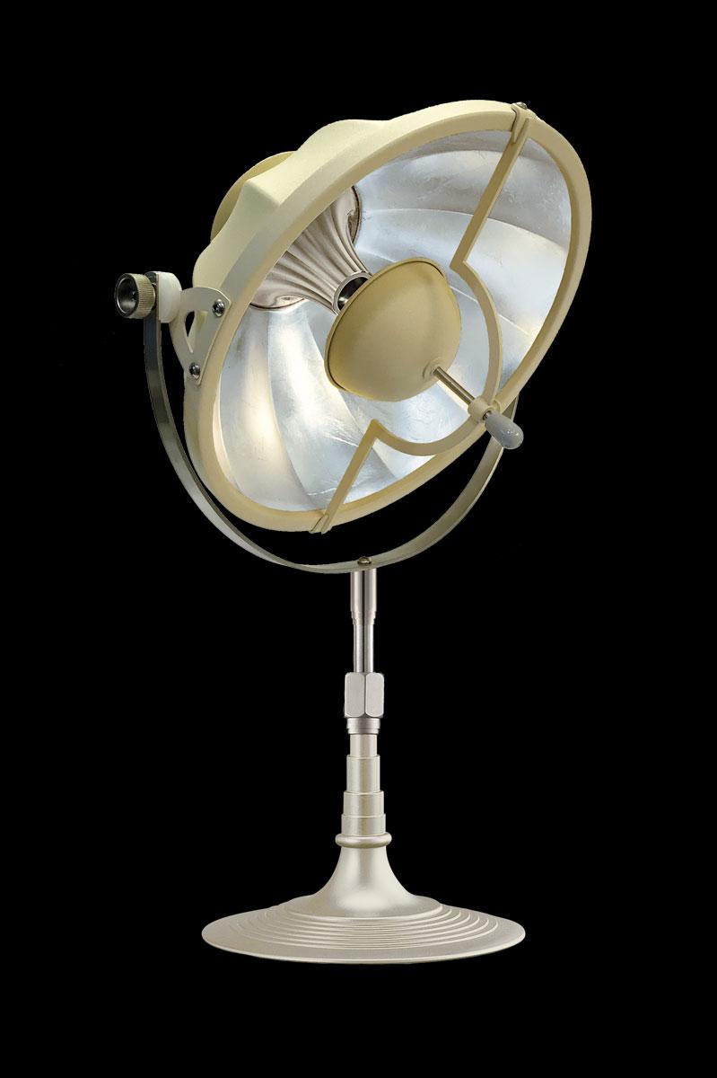 Fortuny Armilla 32 Table Lamp Quartz & Silver Leaf