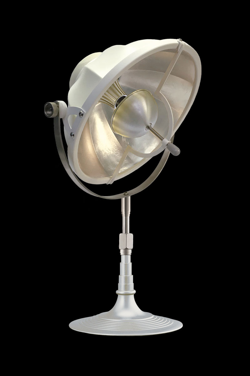 Fortuny Armilla 41 Table Lamp White & silver Leaf