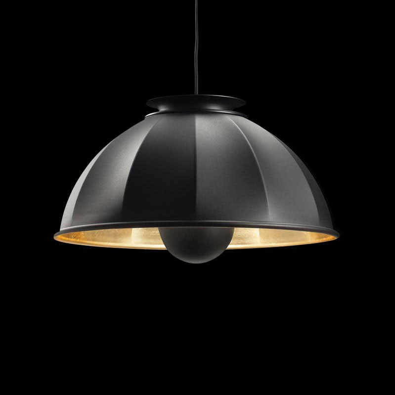 Fortuny Cupola ceiling lamp black and gold