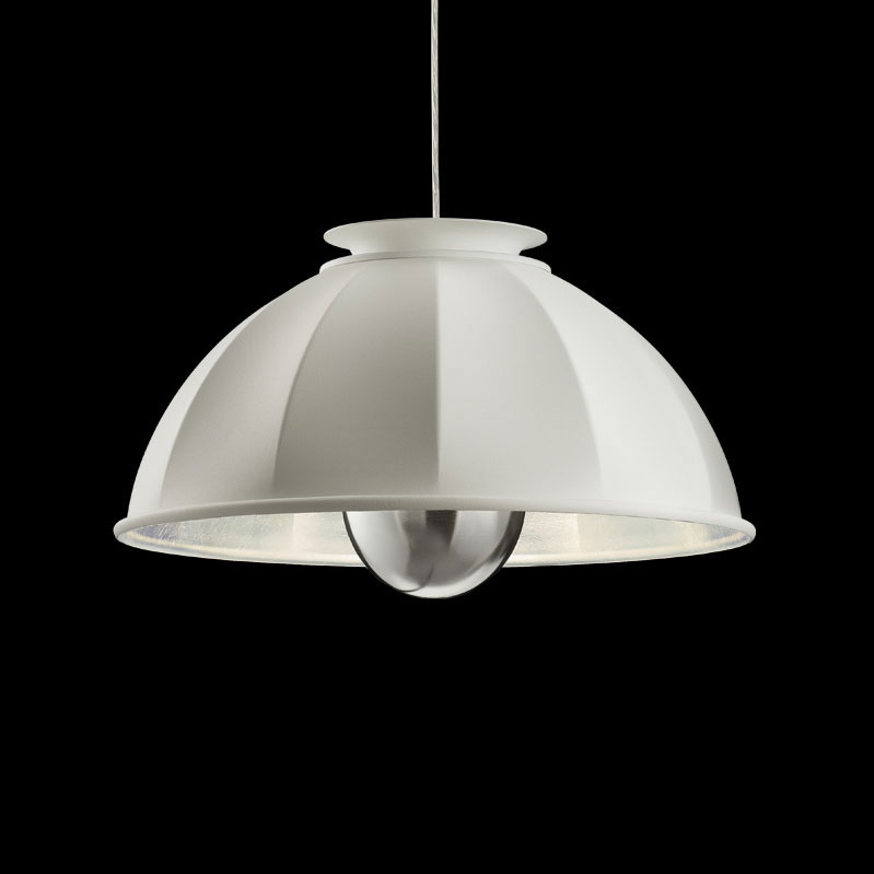 Fortuny Cupola ceiling lamp white and silver leaf