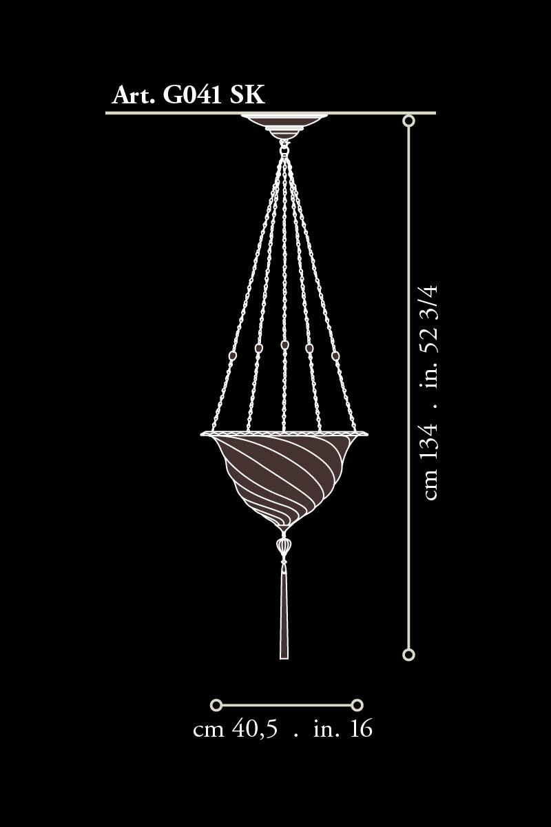 Fortuny glass Samarkanda suspended dimensions