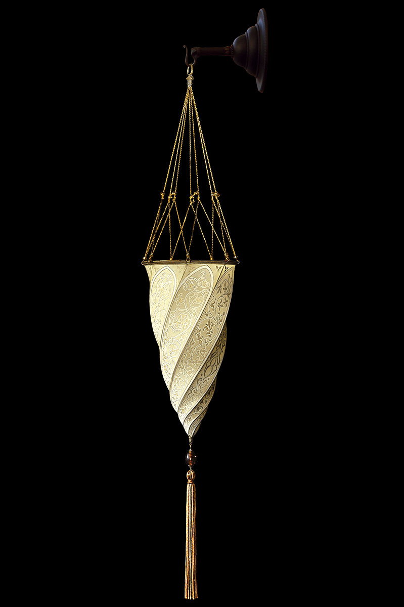 Fortuny Cesendello Classic ivory silk wall lamp