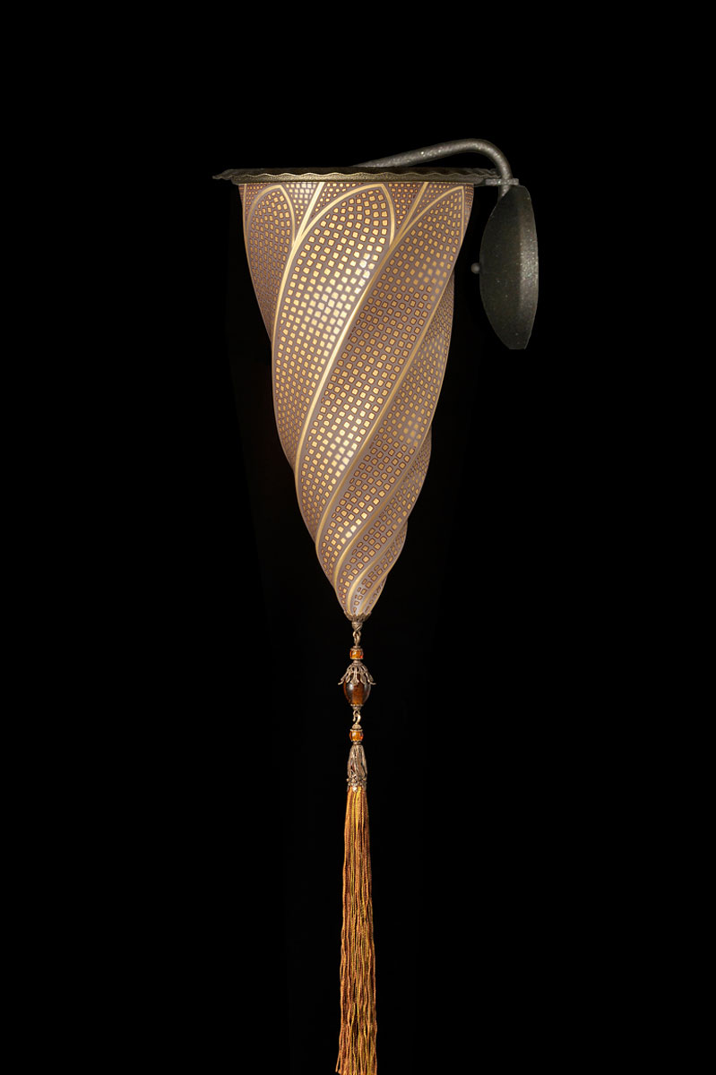 Fortuny Cesendello gold mosaic glass wall applique lamp
