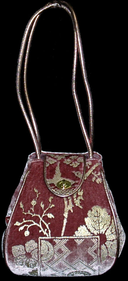 Fortuny Moretta 917 printed velvet bag
