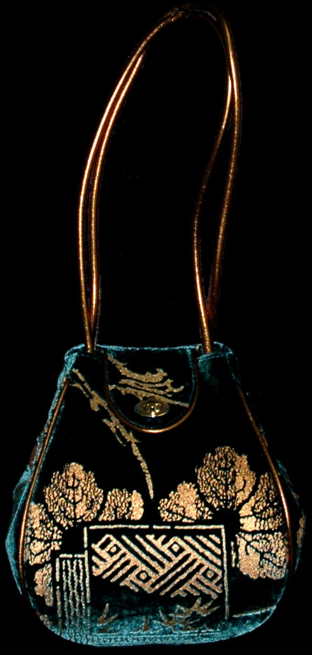 Fortuny Moretta 920 printed velvet bag
