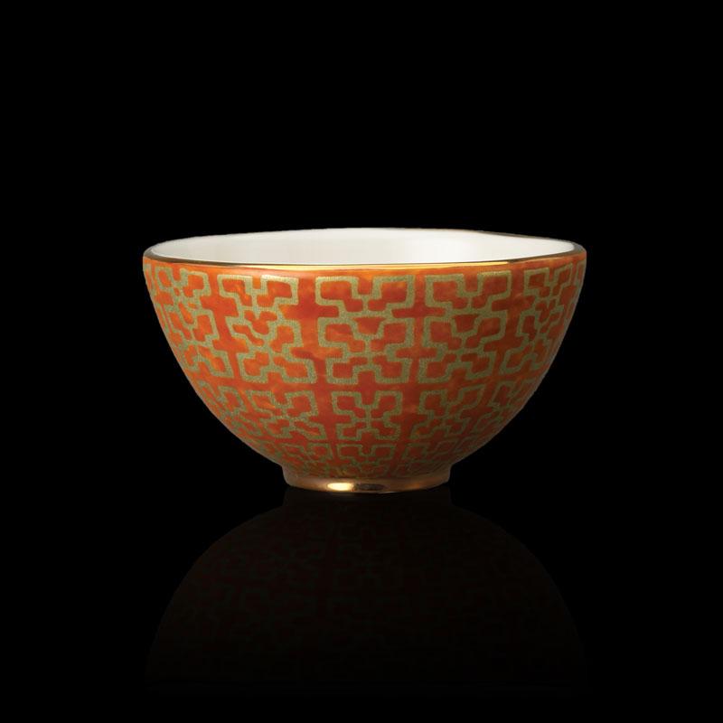Fortuny tableware Ashanti orange cereal bowl