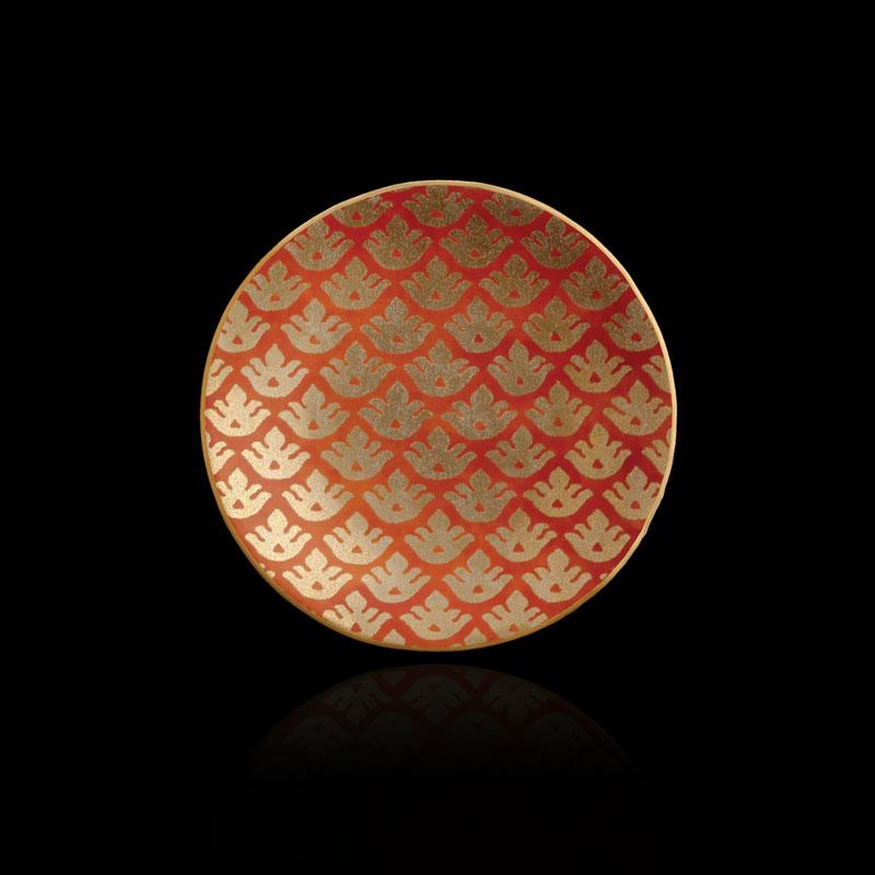 Fortuny Canestrelli orange tableware canape plates set of 4