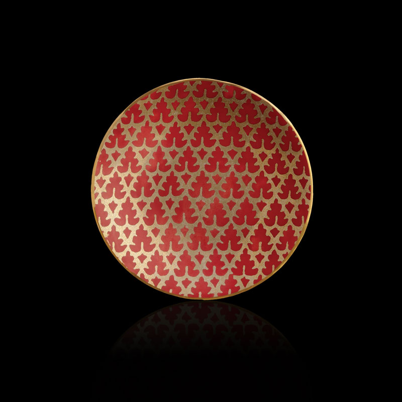 Fortuny Murillo red tableware canape plates set of 4