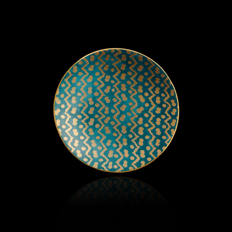 Fortuny Tapa teal blue tableware canape plates set of 4