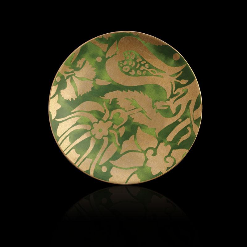 Fortuny Melagrana green tableware dessert plates set of 4