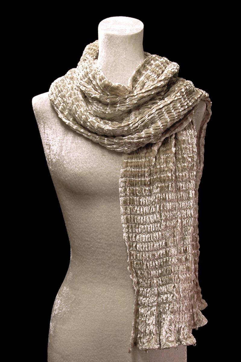 Fortuny pleated velvet scarf