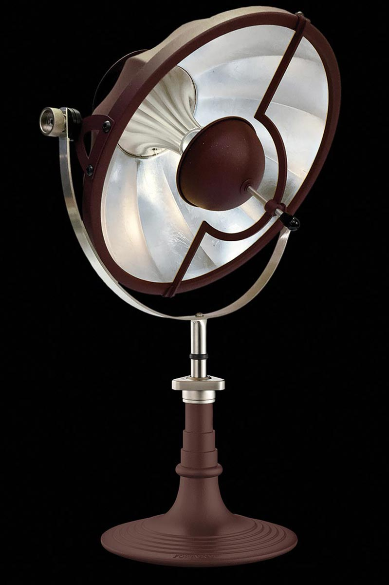 Fortuny Armilla table lamp red and silver leaf