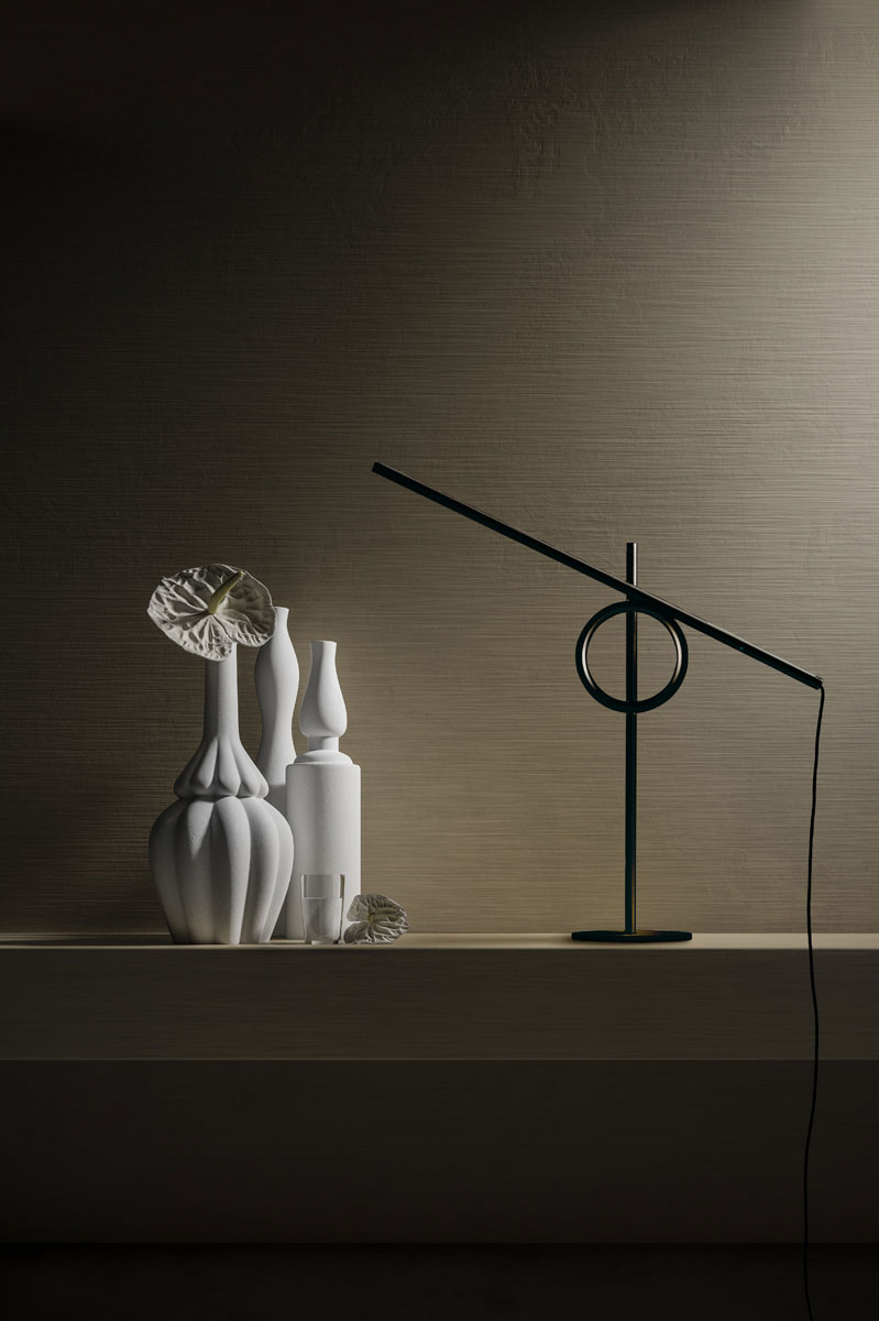Pallucco Tangent mini black table lamp