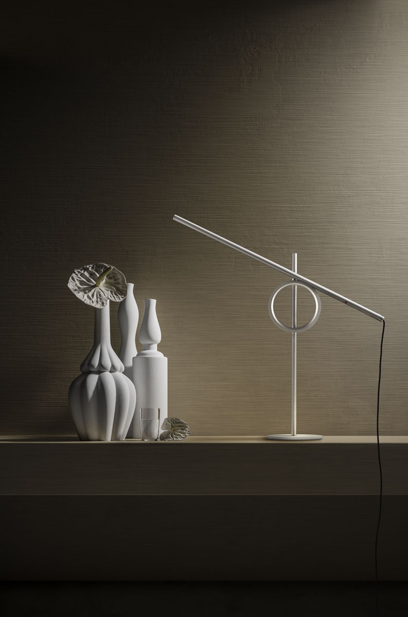 Pallucco Tangent mini white table lamp
